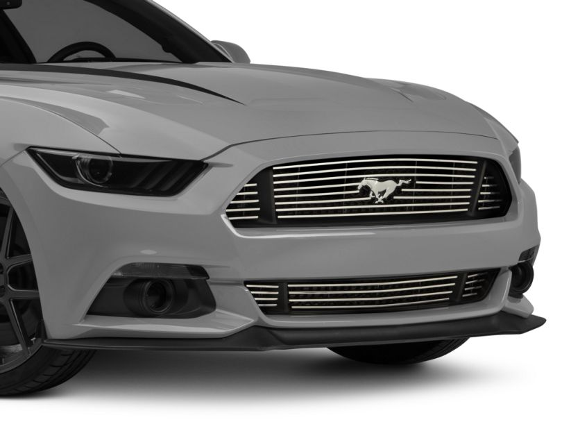 Modern Billet Grille w/ 3-Piece Lower - Polished (15-17 GT)