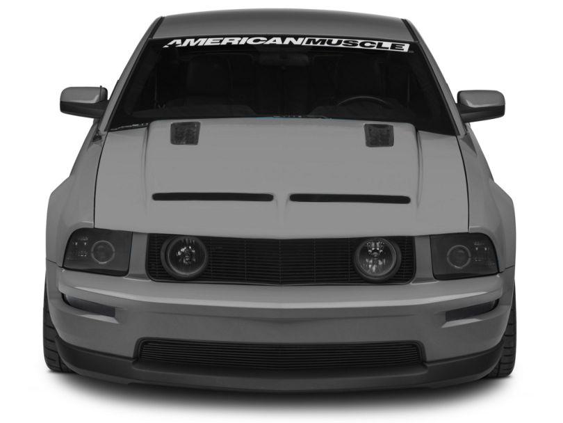 Cervini's Ram Air Hood w/ Louvers - Unpainted (05-09 GT, V6)