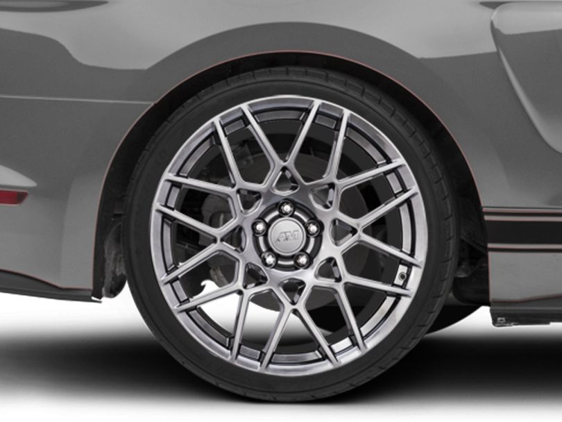 2013 GT500 Style Hyper Dark Wheel; Rear Only; 20x10 (15-20 GT, EcoBoost, V6)