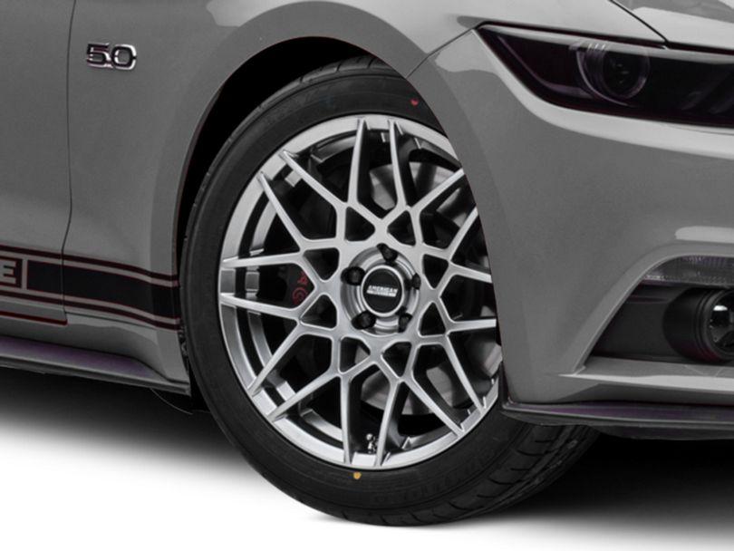2013 GT500 Style Hyper Dark Wheel; 19x8.5 (15-20 GT, EcoBoost, V6)