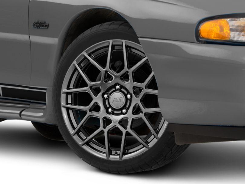 2013 GT500 Style Hyper Dark Wheel; 19x8.5 (94-98 All)