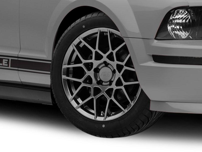 2013 GT500 Style Hyper Dark Wheel - 18x10 - Rear Only (05-09 All)