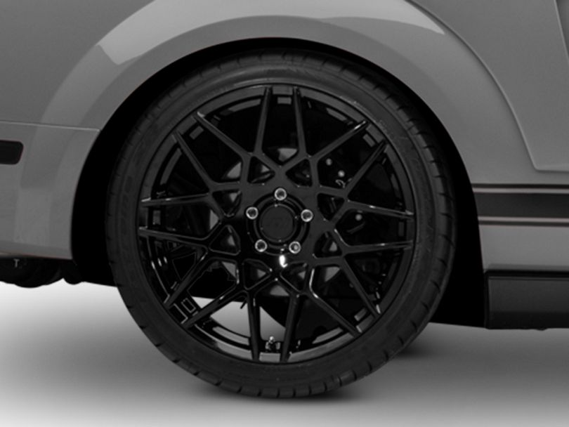 2013 GT500 Style Gloss Black Wheel - 20x10 - Rear Only (05-09 All)