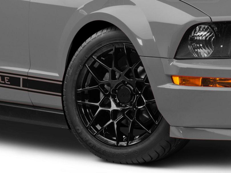 2013 GT500 Style Gloss Black Wheel - 18x9 (05-09 GT, V6)