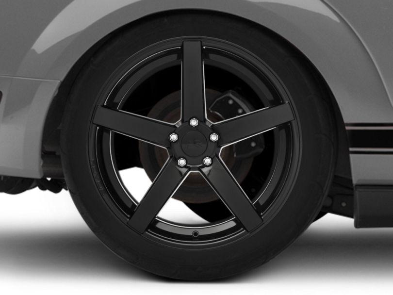 Rovos Durban Gloss Black Wheel; Rear Only; 20x10 (05-09 All)