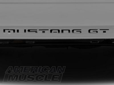 American Muscle Graphics Black Vinyl Bumper Insert Letters (87-93 GT, LX)