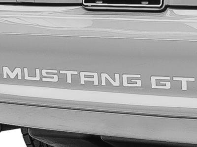 American Muscle Graphics White Vinyl Bumper Insert Letters (94-98 GT, V6; 94-95 Cobra)