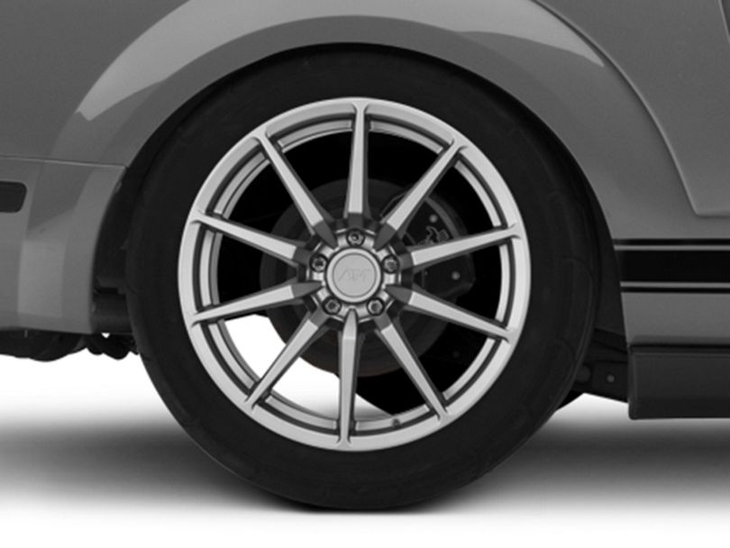 GT350 Style Charcoal Wheel - 19x10 - Rear Only (05-09 All)