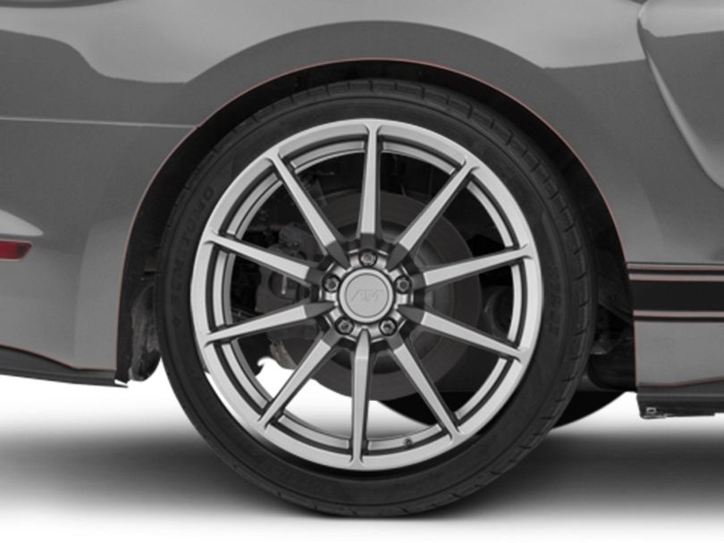 GT350 Style Charcoal Wheel; Rear Only; 19x10 (15-20 GT, EcoBoost, V6)