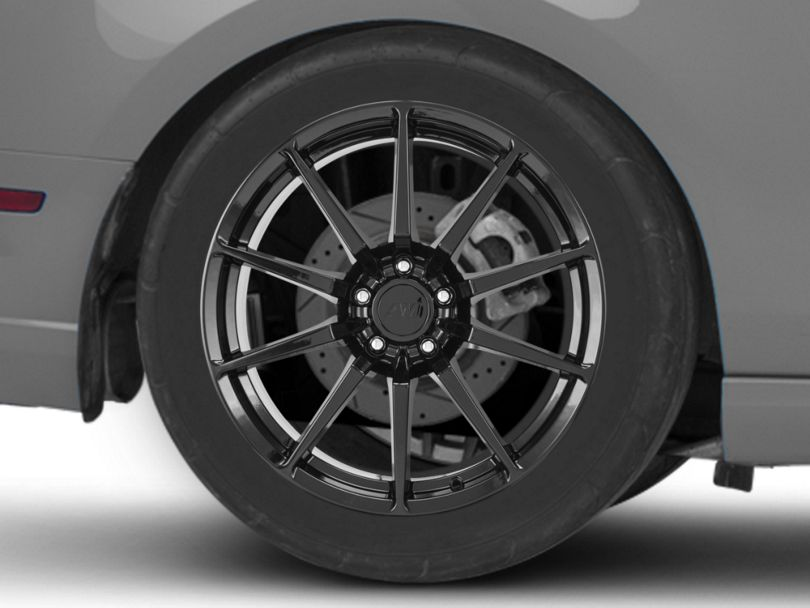 GT350 Style Black Wheel; Rear Only; 19x10 (10-14 All)