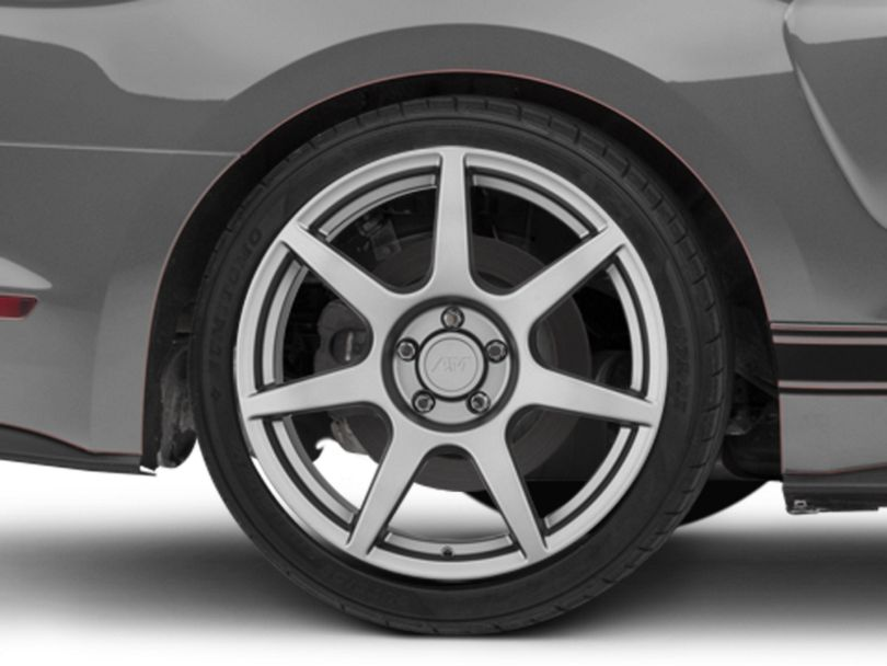 GT350R Style Charcoal Wheel; Rear Only; 19x10 (15-20 GT, EcoBoost, V6)