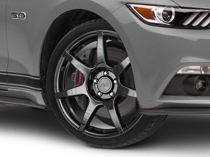 GT350R Style Black Wheel; 19x8.5 (15-20 GT, EcoBoost, V6)