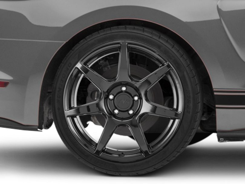 GT350R Style Black Wheel; Rear Only; 19x10 (15-20 GT, EcoBoost, V6)