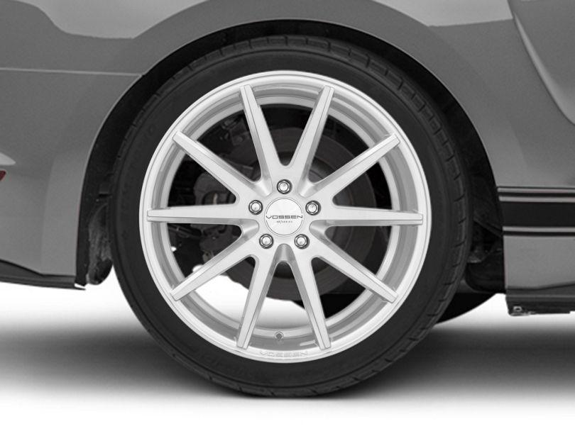 Vossen VFS-1 Silver Brushed Wheel; Rear Only; 19x10 (15-20 Standard GT, EcoBoost, V6)