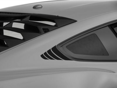 American Muscle Graphics Black Quarter Window Accent (15-19 All)