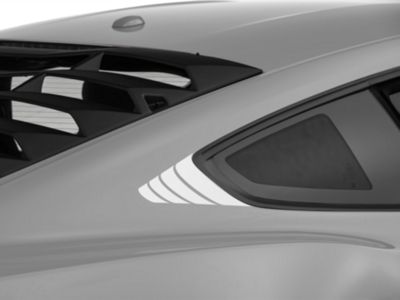 American Muscle Graphics Silver Quarter Window Accent (15-19 All)