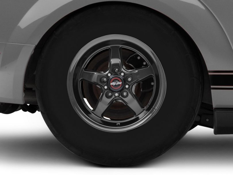 Race Star 92 Drag Star Dark Star Black Chrome Wheel; Front Only; Direct Drill; 15x3.75 (05-09 GT, V6)