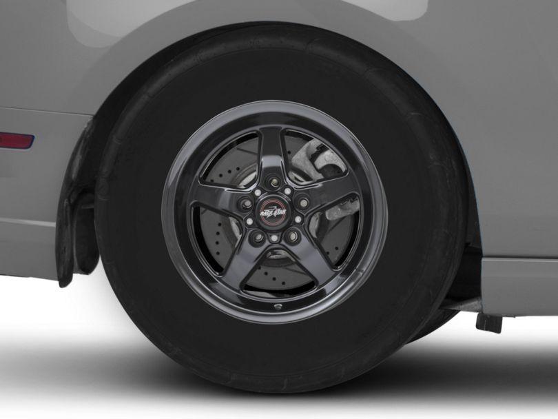 Race Star 92 Drag Star Dark Star Black Chrome Wheel; Front Only; Direct Drill; 15x3.75 (2010 GT, V6)