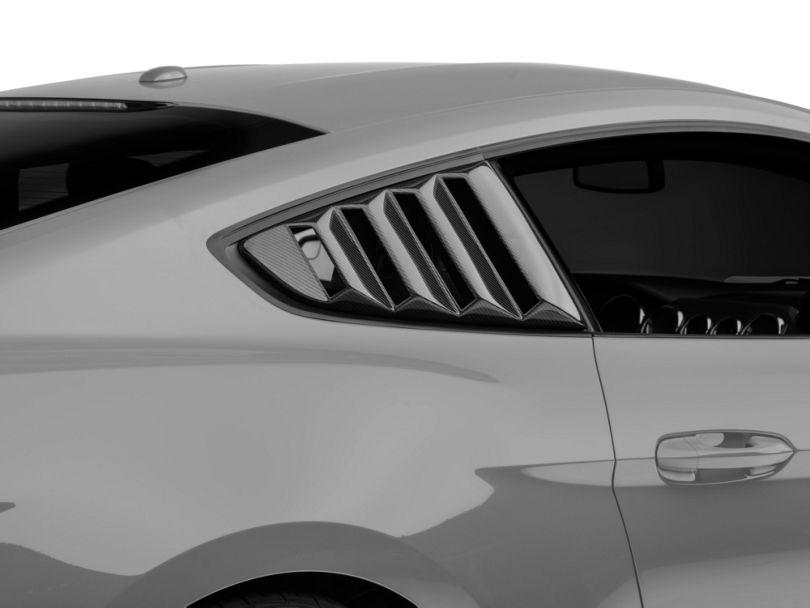 Anderson Composites Quarter Window Louvers - Carbon Fiber (15-20 Fastback)