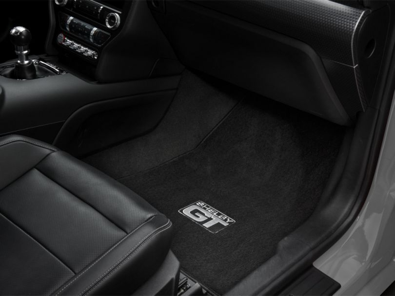 Lloyd Front and Rear Floor Mats with Shelby GT Logo; Black (15-20 All)