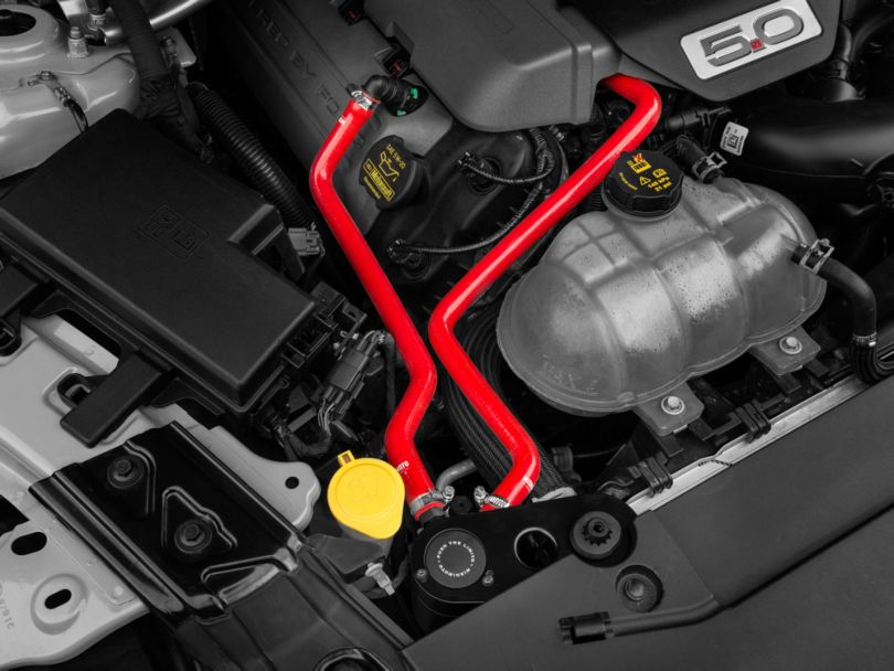 Mishimoto Direct Fit Baffled Oil Separator System - Red Silicone Hoses (15-17 GT)