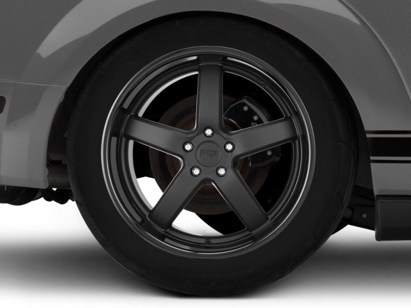 Niche Pantano Matte Black Wheel; Rear Only; 20x10 (05-09 All)
