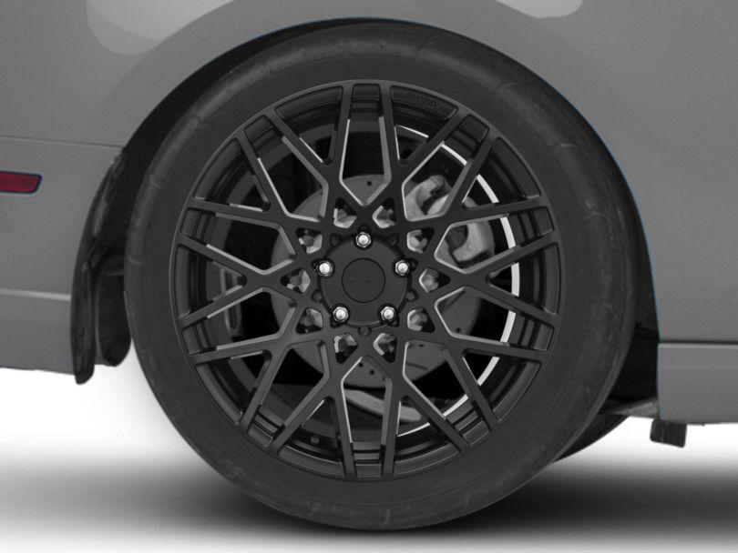 Rotiform BLQ Matte Black Wheel; Rear Only; 20x10 (10-14 All)