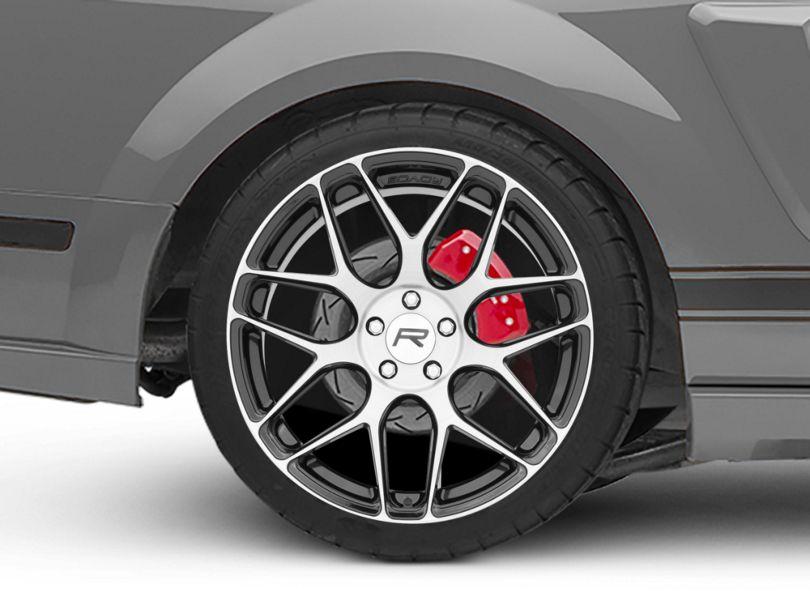 Rovos Pretoria Gloss Black Machined Wheel; Rear Only; 20x10 (05-09 All)