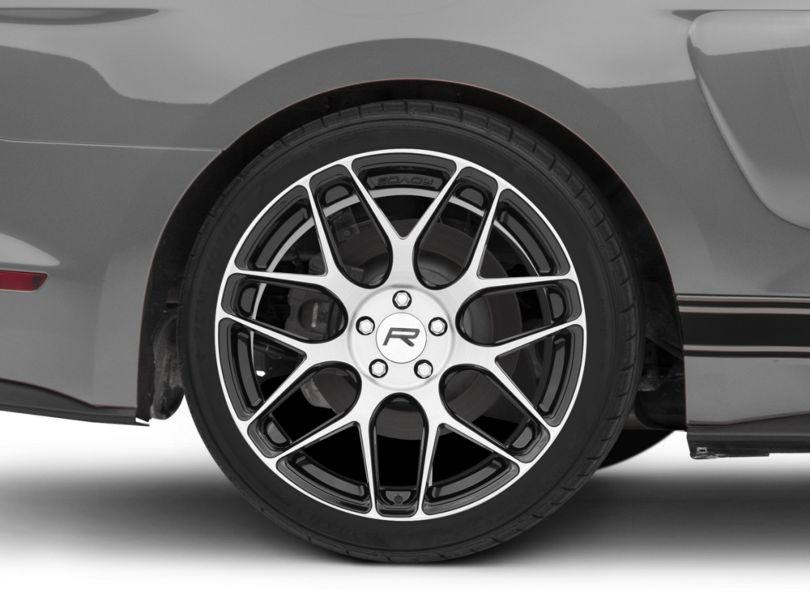 Rovos Pretoria Gloss Black Machined Wheel; Rear Only; 20x10 (15-20 GT, EcoBoost, V6)
