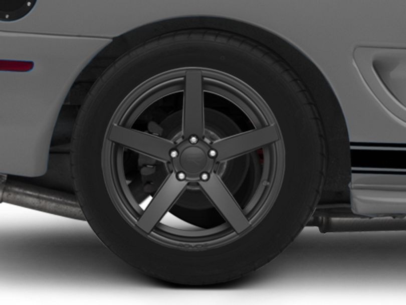 Rovos Durban Satin Black Wheel; Rear Only; 18x10.5 (94-98 All)