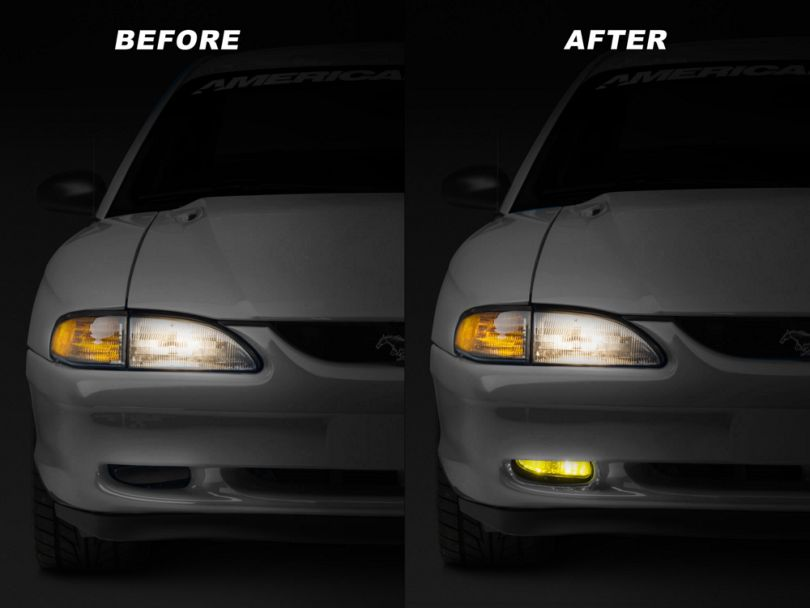Vividline Yellow Fog Light LED Conversion Kit - 893 (94-04 All; Excluding 03-04 Cobra)