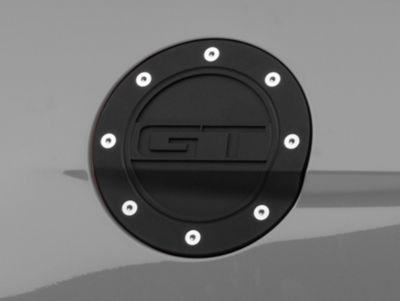 Scott Drake Competition Series Fuel Door w/ GT Logo - Black (15-19 All)