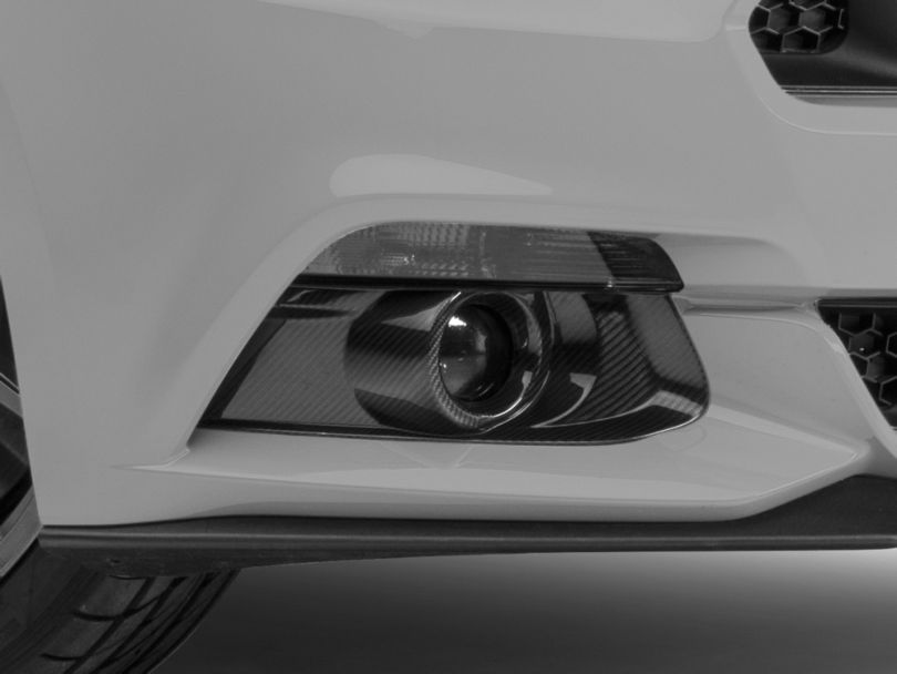 MMD Carbon Fiber Fog Light Surrounds (15-17 GT, EcoBoost, V6)