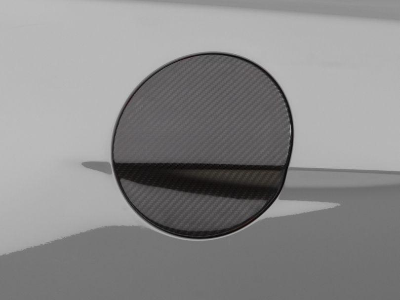 MMD Fuel Door Cover; Carbon Fiber (15-20 All)