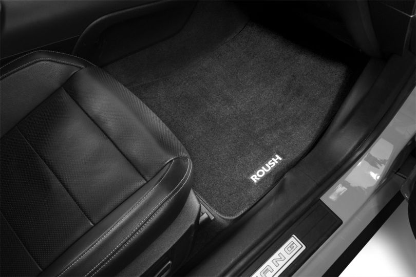 Roush Embroidered Front & Rear Floor Mats - Black (15-20 All)