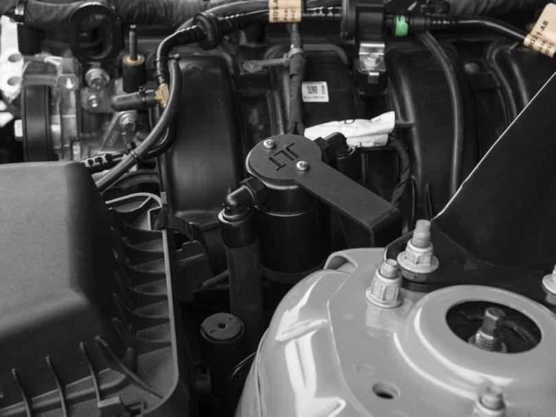JLT V3.0 Black Oil Separator; Driver Side (15-20 EcoBoost)