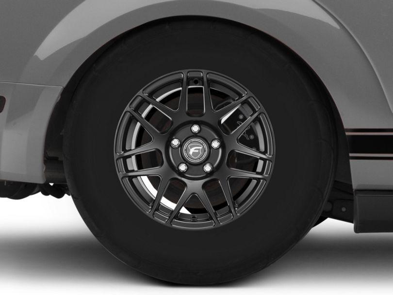 Forgestar F14 Drag Edition Matte Black Wheel; Rear Only; 15x10 (05-09 GT, V6)