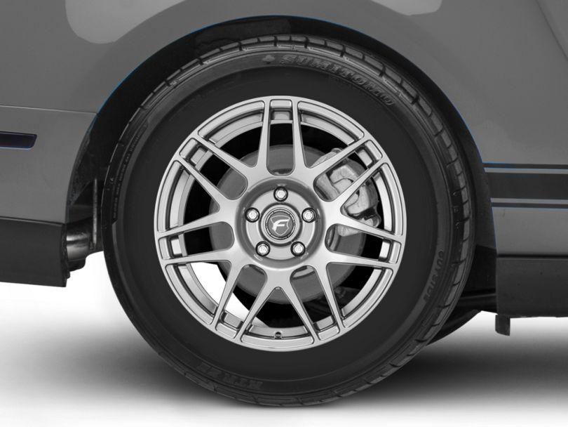 Forgestar F14 Drag Edition Gunmetal Wheel; Rear Only; 17x10.5 (10-14 All)