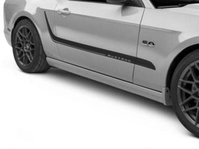 American Muscle Graphics Mustang Matte Black Hood Accent Decal
