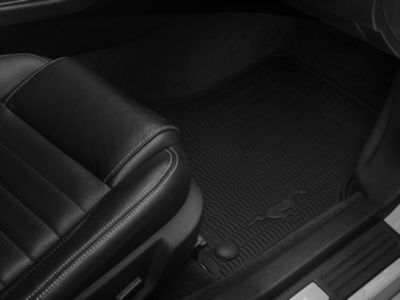Ford Front & Rear All Weather Floor Mats w/ Running Pony Logo - Black (11-14 All)