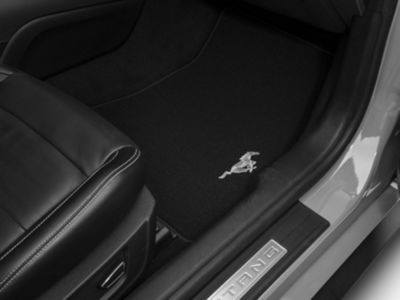 Ford Front Floor Mats w/ Running Pony Logo - Black (15-19 All)