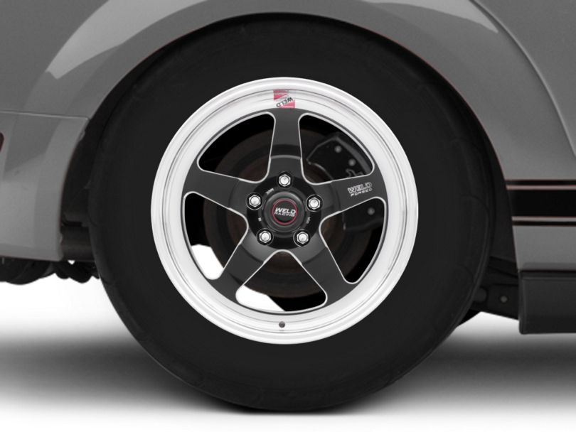 Weld Racing RTS S71 Black Anodized Wheel; Rear Only; 17x10 (05-09 All)