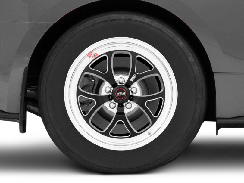 Weld Racing RTS S76 Black Anodized Wheel; Rear Only; 17x10 (15-20 Standard EcoBoost, V6)