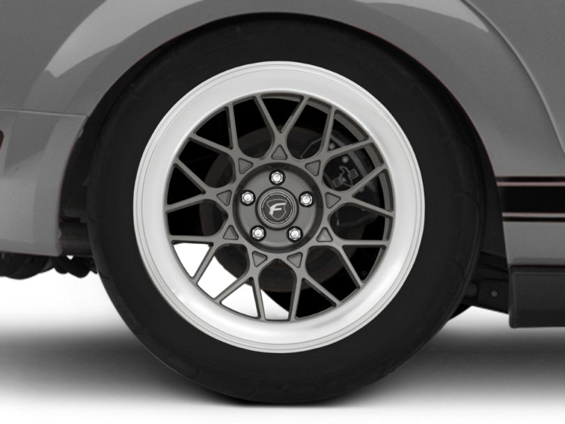 Forgestar S18 Gunmetal Machined Wheel; Rear Only; 19x11 (05-09 All)