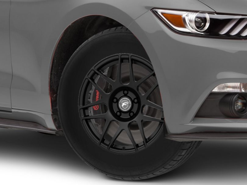 Forgestar F14 Drag Edition Matte Black Wheel; Front Only; 17x7 (15-20 GT, EcoBoost, V6)