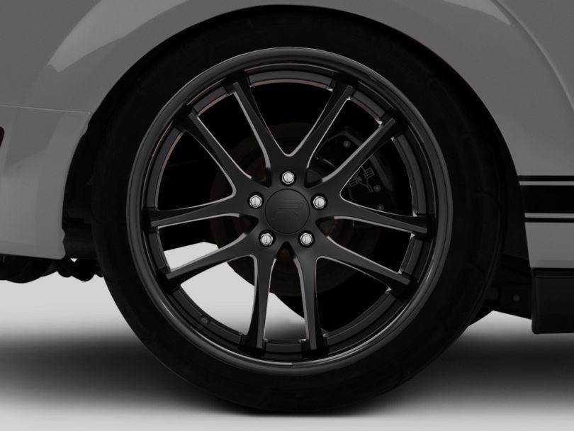 Rovos Cape Town Satin Black Wheel; Rear Only; 20x10 (05-09 All)