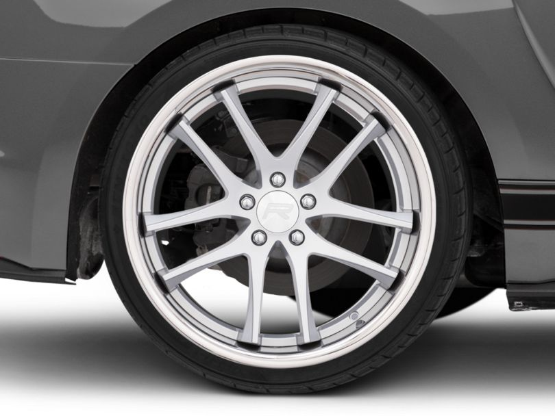 Rovos Cape Town Satin Silver Wheel; Rear Only; 20x10 (15-20 GT, EcoBoost, V6)
