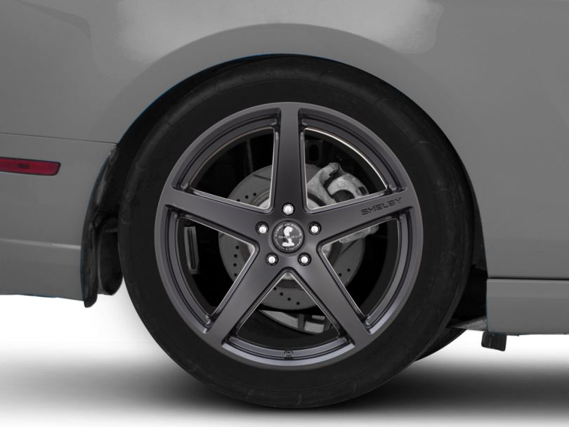 Shelby Style SB201 Satin Black Wheel; Rear Only; 20x10.5 (10-14 All)