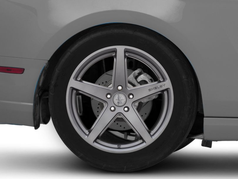Shelby Style SB201 Charcoal Wheel; Rear Only; 19x10.5 (10-14 All)