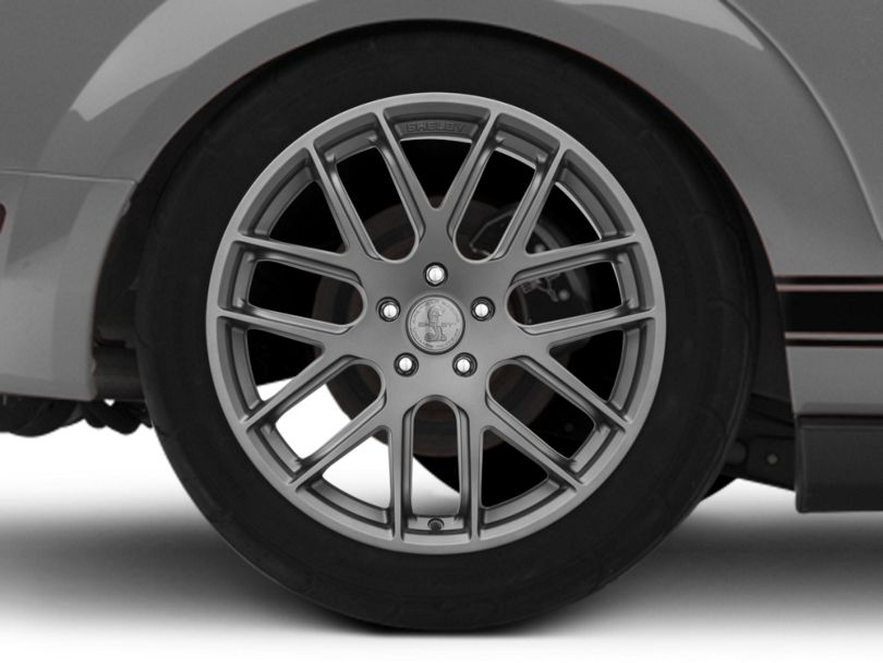 Shelby Style SB202 Charcoal Wheel; Rear Only; 19x10.5 (05-09 All)